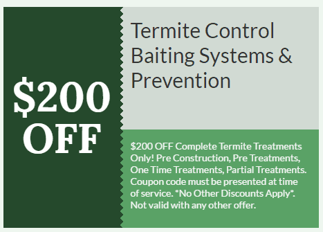 $200 off Termite Control Baiting Systems & Prevention